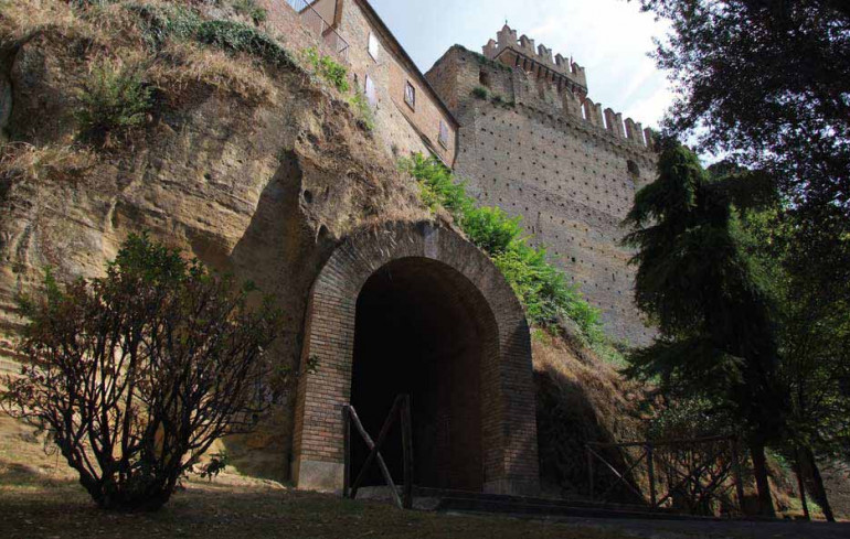 The medieval Castle of Offagna