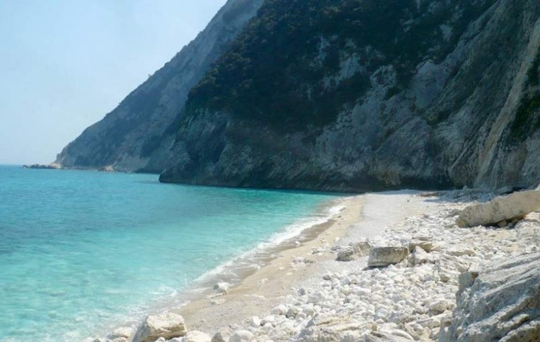 "The ""Gabbiani"" beach in Sirolo"